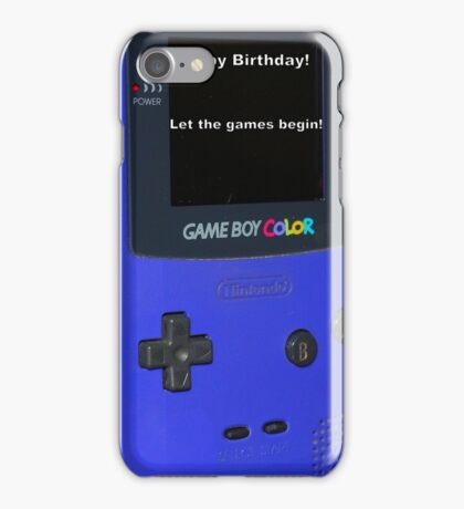 Gameboy color Birthday Present iPhone Case/Skin