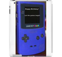 Gameboy color Birthday Present iPad Case/Skin