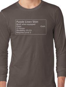 Purple Linen Shirt Long Sleeve T-Shirt