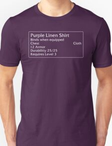 Purple Linen Shirt Unisex T-Shirt
