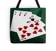 Poker Hands - Full House - Ace and Ten Tote Bag