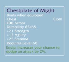 Chestplate of Might Kids Clothes