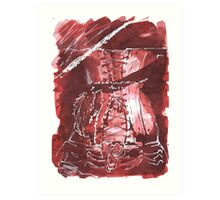 Brown Corset Art Print