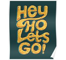 Hey Ho Lets Go Poster