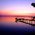 sunset on lake chiemsee by Catherine Keehan