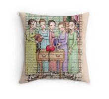 Jane Austen - The Bennet Sisters Go Bonnet Shopping Throw Pillow