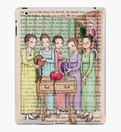 Jane Austen - The Bennet Sisters Go Bonnet Shopping iPad Case/Skin