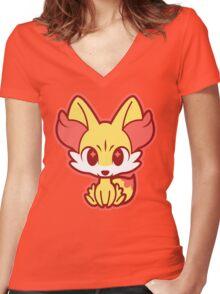 Chibi Fennekin Women's Fitted V-Neck T-Shirt