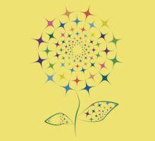Shining abstract dandelion Kids Tee