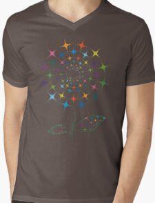 Shining abstract dandelion Mens V-Neck T-Shirt