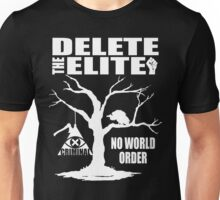Delete The Elite - Anti New World Order Unisex T-Shirt