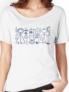Children - blue design Women's Relaxed Fit T-Shirt