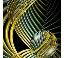 Art Deco Metalsphere (777 Views) Photographic Print