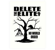 Illuminati - Delete The Elite Art Print