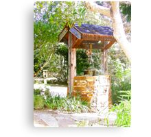 Wishing Well Cambria Pines Lodge Metal Print