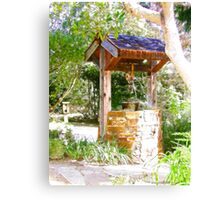 Wishing Well Cambria Pines Lodge Canvas Print