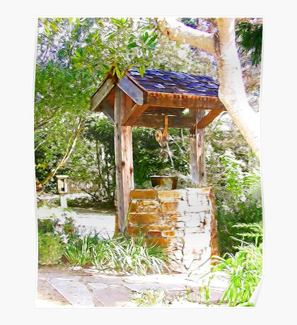 Wishing Well Cambria Pines Lodge Poster