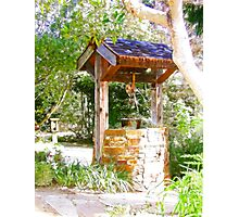 Wishing Well Cambria Pines Lodge Photographic Print