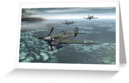 P-40 Warhawk by David  Humphrey