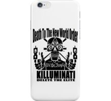 Death To The New World Order iPhone Case/Skin