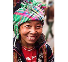 Black Hmong Smile - Sapa, Vietnam Photographic Print