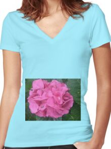 Proud, Pink & Powerful Women's Fitted V-Neck T-Shirt
