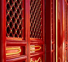 Red Lacquer - The Forbidden City, China by Alex Zuccarelli