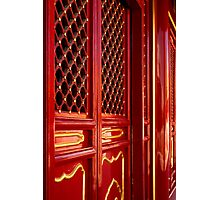 Red Lacquer - The Forbidden City, China Photographic Print