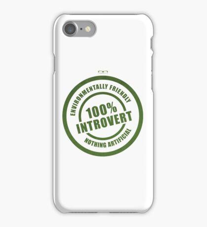 100% Introvert iPhone Case/Skin
