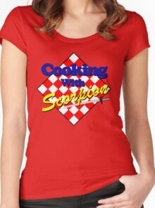 Cooking with Scorpion Women's Fitted Scoop T-Shirt