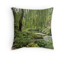 The Sunken Garden Lake Throw Pillow