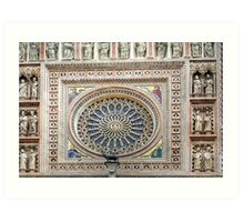 Orvieto - Dome - Rose Window Art Print