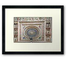 Orvieto - Dome - Rose Window Framed Print