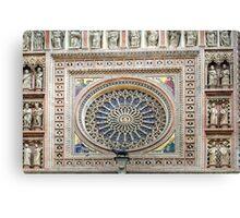 Orvieto - Dome - Rose Window Canvas Print