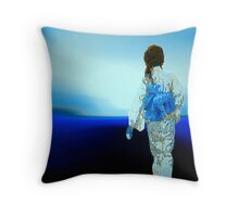 walk.... in blue paradise... Throw Pillow