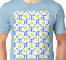 Eggs (blue gingham) Unisex T-Shirt