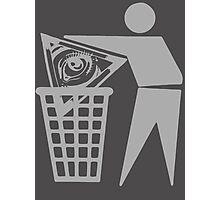 Delete The Elite - Anti New World Order Photographic Print