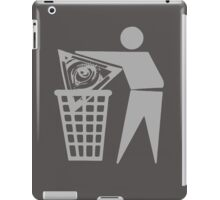 Delete The Elite - Anti New World Order iPad Case/Skin