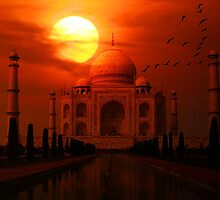 Taj Mahal Sunset by ImageMonkey
