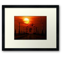 Taj Mahal Sunset Framed Print