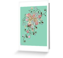 Pretty floral ornament  Greeting Card