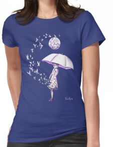 The Girl is Fading Womens Fitted T-Shirt