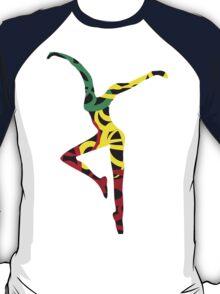 Dave Matthews Fire Dancer- Rastafarian Colors T-Shirt