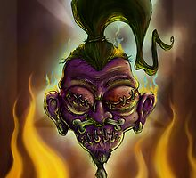 Rebel Shrunken Head by trickmonkey