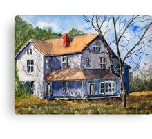 Old Farm House - Watercolor Landscape Canvas Print