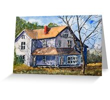 Old Farm House - Watercolor Landscape Greeting Card
