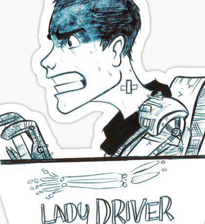 Lady Driver Sticker