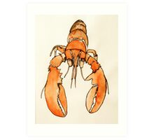 Lonely Lobster Art Print