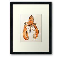 Lonely Lobster Framed Print