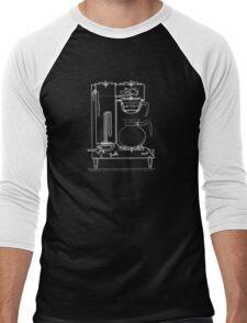 Half & half white Men's Baseball ¾ T-Shirt